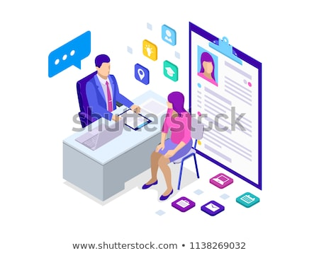 разговор · фото · Smart · женщину · глядя · коллега - Сток-фото © minervastock