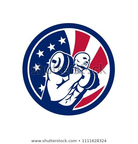 Americano ginásio circuito EUA bandeira ícone Foto stock © patrimonio