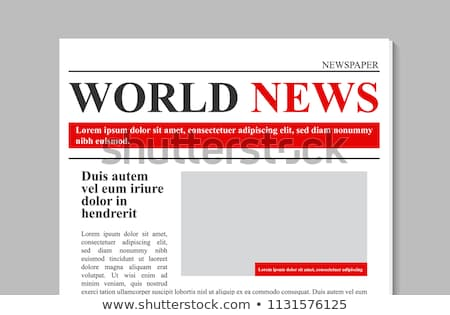 Newspaper Vector. Magazine Mockup Template. News Paper Tabloid Page Article. Breaking. Illustration Stock photo © pikepicture