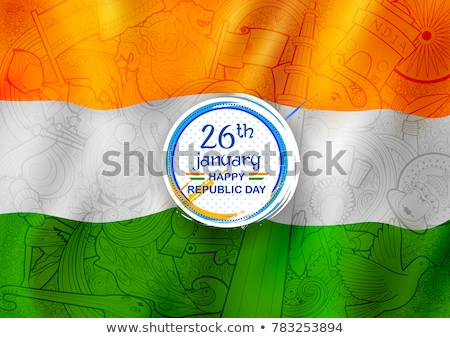 26th january republic day wavy flag banner concept Stock photo © SArts