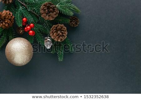 natal · cartão · floco · de · neve · arte - foto stock © sarts