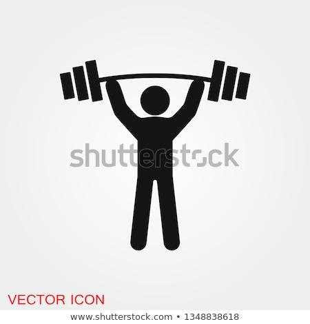 Bodybuilder gewichtheffen vector icon lichaam man Stockfoto © blaskorizov