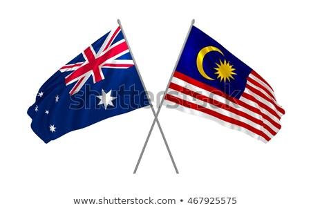 Iki bayraklar Avustralya Malezya yalıtılmış Stok fotoğraf © MikhailMishchenko