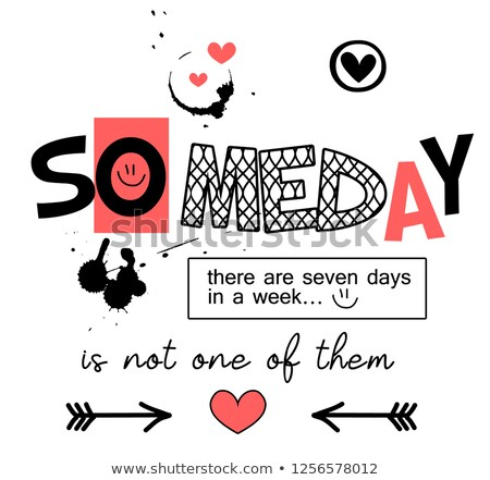 Font design for seven days of the week with kids Stock photo © colematt