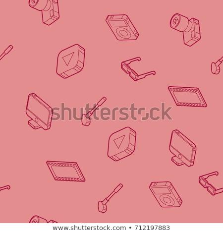 Hobbie outline isometric icons set Stock photo © netkov1