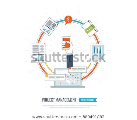 金融 投資 分析論 成長 レポート 分析 ストックフォト © cifotart