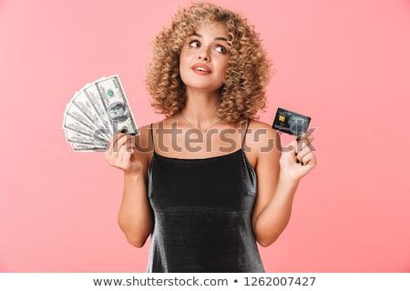 Foto gekruld vrouw 20s Stockfoto © deandrobot