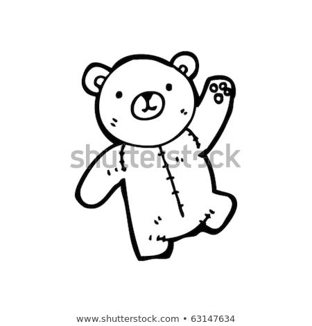 aranyos · medve · integet · mosoly · boldog · háttér - stock fotó © arkadivna