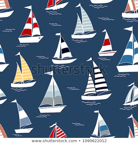 sea seamless patterns nautical design marine elements stock photo © lemony