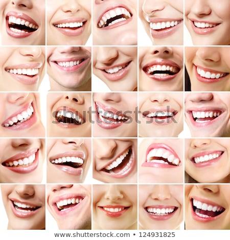 güzel · bayan · dudaklar · ayarlamak · örnek · çekici - stok fotoğraf © Blue_daemon