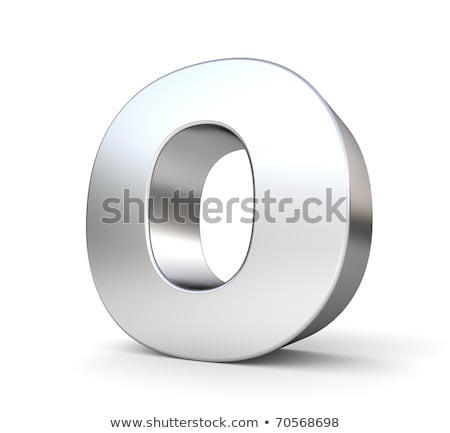 Chrome font with colorful reflections Letter O 3D Stock photo © djmilic
