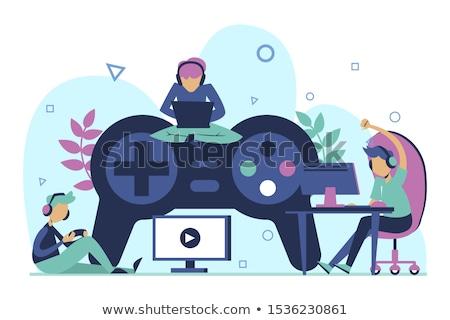 Gaming disorder concept vector illustration. Stock photo © RAStudio