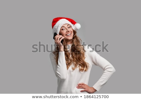 Retrato mulher atraente seis falante Foto stock © deandrobot