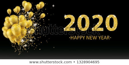 шаров частицы конфетти Новый год черный Сток-фото © limbi007