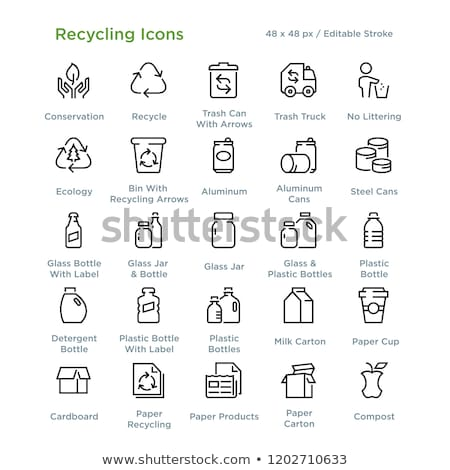 Vektör ayarlamak geri dönüşüm çöp çanta çöp Stok fotoğraf © olllikeballoon