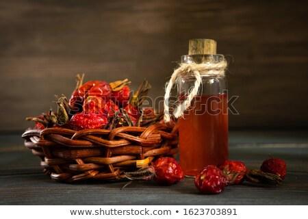 bouteille · rose · hanche · semences · pétrolières · séché - photo stock © madeleine_steinbach