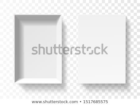 beyaz · hediye · kutusu · yay · 3D · 3d · render - stok fotoğraf © iserg