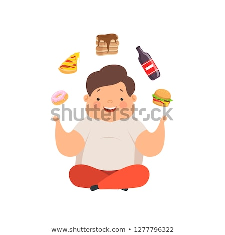 A chubby boy character Stock photo © colematt