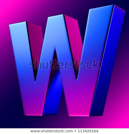 Niebieski gradient list w 3D 3d ilustracja Zdjęcia stock © djmilic
