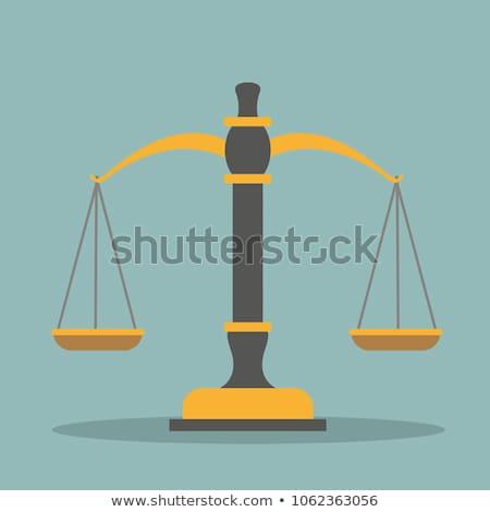 Juiz gabela viga saldo dourado ilustração 3d Foto stock © limbi007