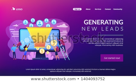 Generating new leads concept landing page Stock photo © RAStudio