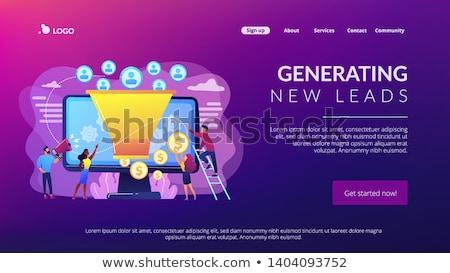 generating new leads concept landing page stock photo © rastudio