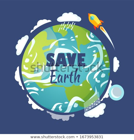 Save Earth Planet with Launched Rocket and Sky Stock photo © robuart