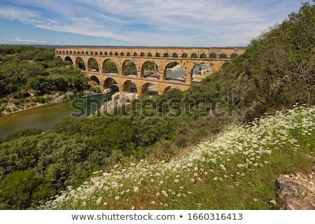 Scenic springtime panoramic view over the ruins of the Roman For stock photo © xbrchx