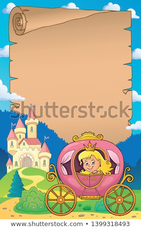 Princess in carriage theme parchment 1 Stock photo © clairev