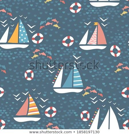 Kids in boat theme image 2 Stock photo © clairev