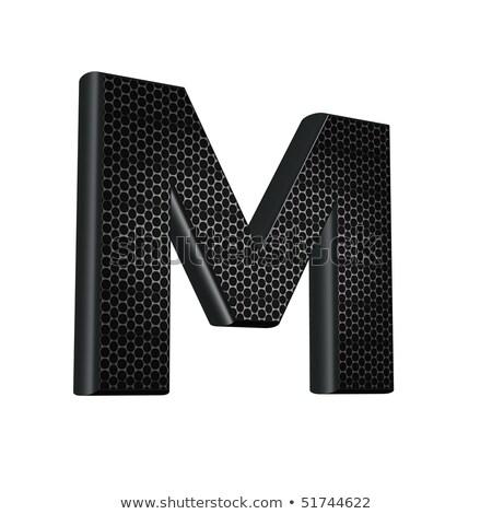 Preto fonte letra m 3D ilustração 3d Foto stock © djmilic