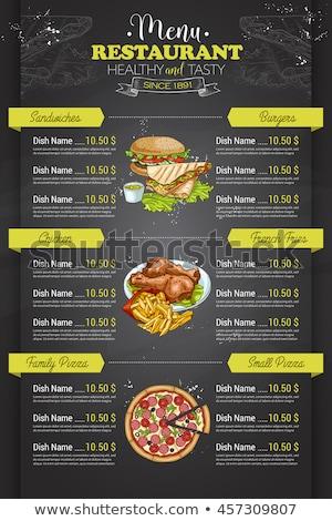 ресторан · вертикальный · цвета · меню · дизайна · ретро - Сток-фото © netkov1