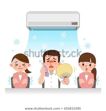 Warmte kantoor man geïsoleerd illustratie pants Stockfoto © tiKkraf69