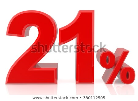 Vinte um por cento branco isolado ilustração 3d Foto stock © ISerg