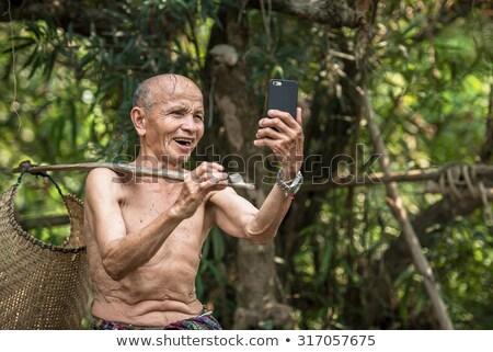 笑顔の女性 · 画像 · 携帯 · 携帯電話 · 孤立した - ストックフォト © dolgachov