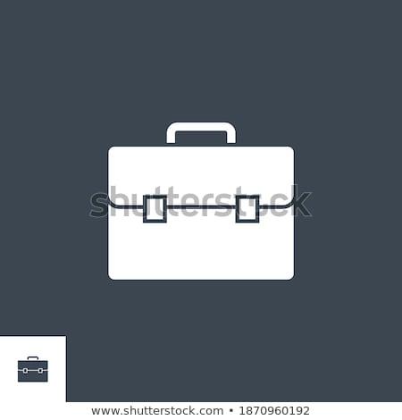 evrak · çantası · ikon · daire · ofis · yeşil · mavi - stok fotoğraf © smoki