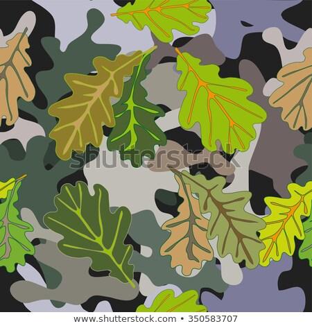 Model yeşil sarı meşe yaprakları suluboya Stok fotoğraf © Artspace