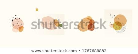 Jesienią kółko współczesny spadek pozostawia Zdjęcia stock © solarseven