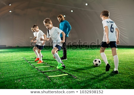 football training practice exercises for youth soccer players stock photo © matimix