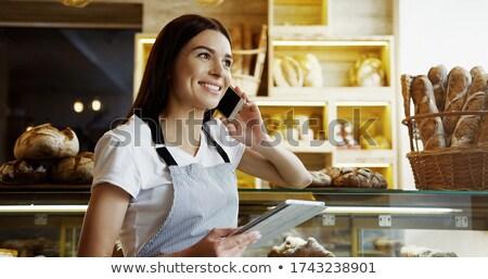 かなり 若い女性 販売 パン ベーカリー 新鮮な ストックフォト © boggy