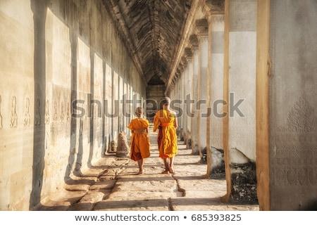 Angkor templo feminino Camboja pedra adorar Foto stock © lichtmeister