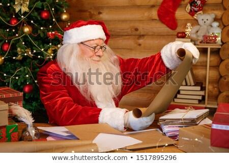 Gelukkig witte baard naar brief Stockfoto © pressmaster