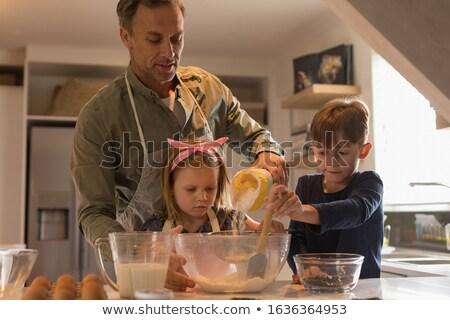 Vader onderwijs kinderen Stockfoto © wavebreak_media