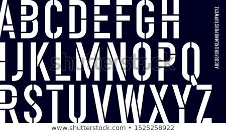 handgemaakt · retro · doopvont · zwarte · brieven · witte - stockfoto © foxysgraphic