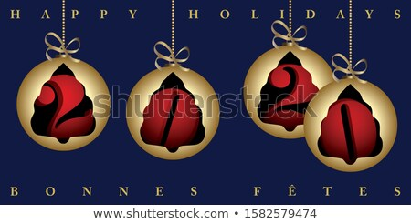 New Year 2020 french card gold holiday ornament Stock photo © cienpies