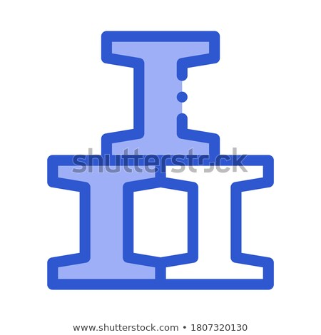 Railroad Metallurgical Icon Vector Illustration Stock photo © pikepicture