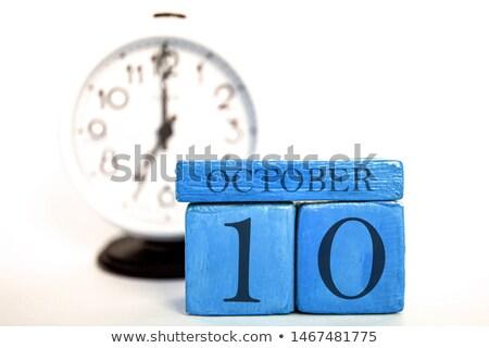 Cubes calendar 10th October Stock photo © Oakozhan