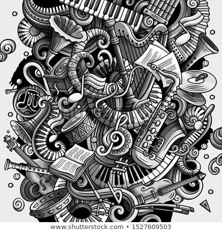 Karikatür karalamalar disko müzik örnek müzikal Stok fotoğraf © balabolka