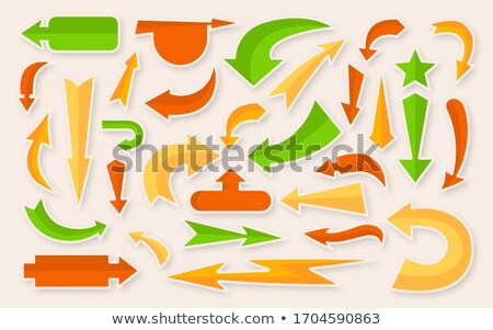 Target with arrow cartoon color illustration Stock photo © barsrsind