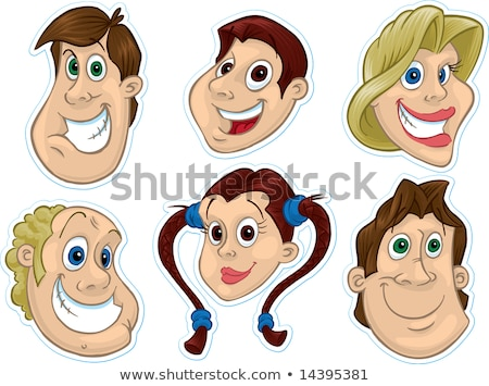 Smiling Face Fridge Magnet/Stickers #2 Stock photo © robStock